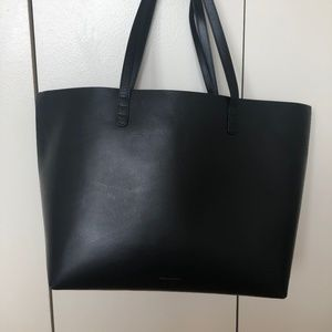 Mansur Gavriel Black Small Tote Red Lining